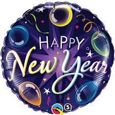 Ballons Gonflé à l Hélium Happy New Year