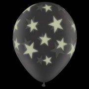 Lot de 25 Ballons Etoiles Phosphorescents