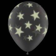 Lot de 25 Ballons Etoiles Phosphorescents