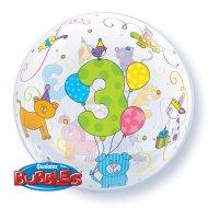 Bubble Ballon Gonflé à l'Hélium 3 Ans