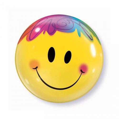 Bubble Ballon à Plat Smiley