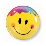 Bubble Ballon Hélium Smiley