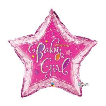 Ballon Géant Welcome Baby Girl