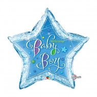Ballon G�ant Welcome Baby Boy