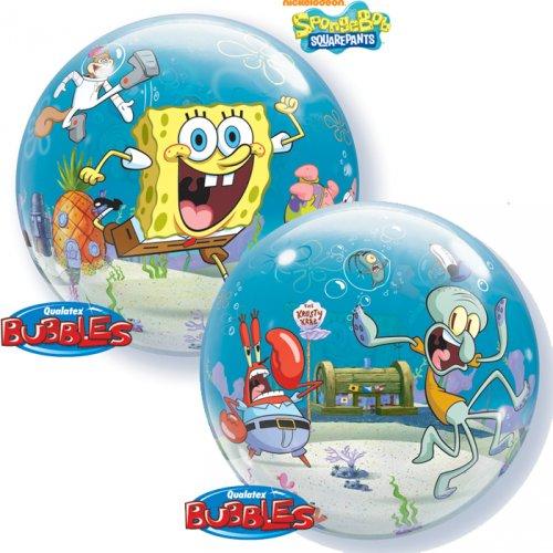 Bubble Ballon Gonflé à l Hélium Bob L Eponge
