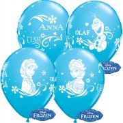 6 Ballons Reine des Neiges Blue Ice