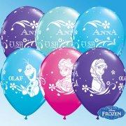 25 Ballons Reine des Neiges
