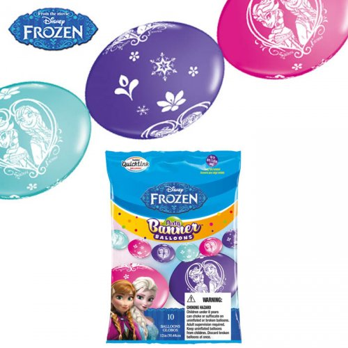 Guirlande 10 Ballons Reine des Neiges