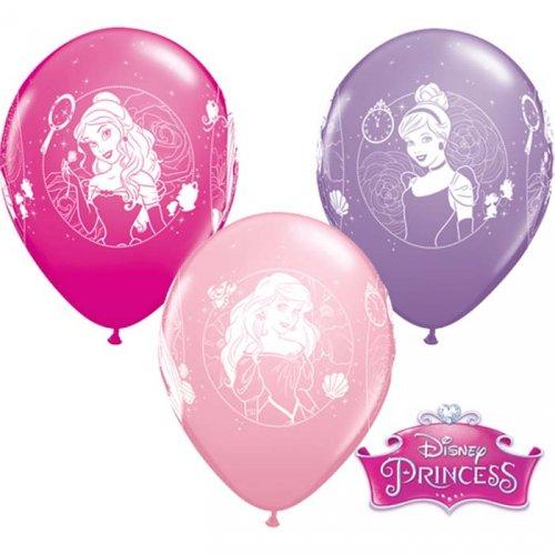 6 Ballons Princesse Disney