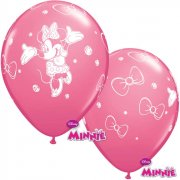6 Ballons Minnie Rose