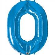 Ballon G�ant Chiffre 0 Bleu