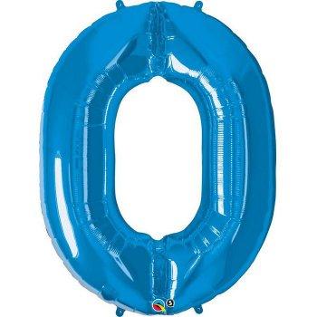 Ballon Géant Chiffre 0 Bleu