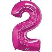 Ballon G�ant Chiffre 2 Rose