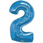 Ballon Géant Chiffre 2 Bleu