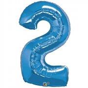 Ballon G�ant Chiffre 2 Bleu