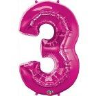 Ballon G�ant Chiffre 3 Rose