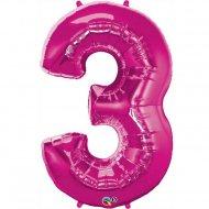 Ballon Géant Chiffre 3 Rose