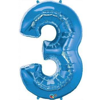 Ballon Géant Chiffre 3 Bleu