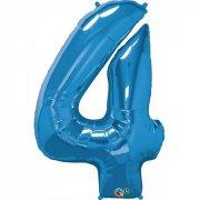 Ballon G�ant Chiffre 4 Bleu
