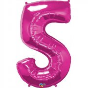 Ballon G�ant Chiffre 5 Rose