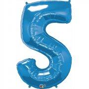Ballon G�ant Chiffre 5 Bleu