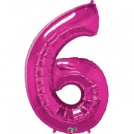 Ballon Géant Chiffre 6 Rose