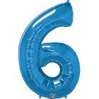 Ballon G�ant Chiffre 6 Bleu