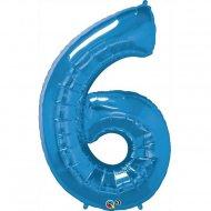 Ballon Géant Chiffre 6 Bleu