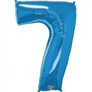 Ballon G�ant Chiffre 7 Bleu