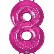 Ballon G�ant Chiffre 8 Rose