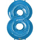 Ballon G�ant Chiffre 8 Bleu