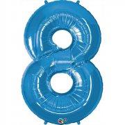 Ballon Géant Chiffre 8 Bleu