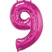 Ballon G�ant Chiffre 9 Rose