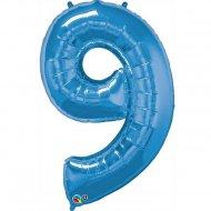 Ballon Géant Chiffre 9 Bleu