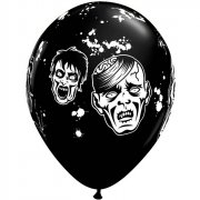 Lot de 6 ballons noirs Zombies