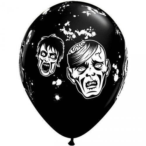 Lot de 6 ballons noirs Zombies
