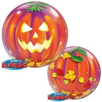 Bubble Ballon Hélium Citrouille Lanterne