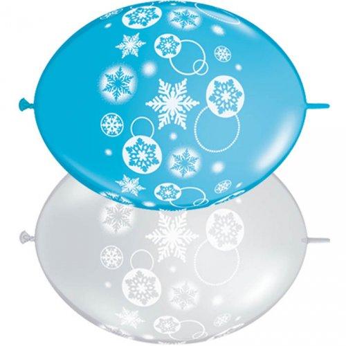 Guirlande 50 Ballons Flocons de Neige