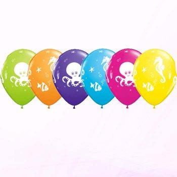 6 Ballons Animaux de la Mer
