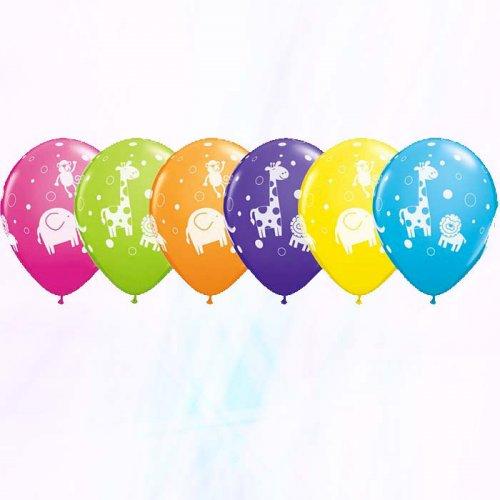 6 Ballons Animaux de la Jungle