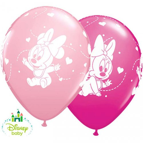 25 Ballons Minnie Baby