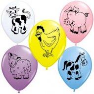 25 Ballons Animaux de la Ferme