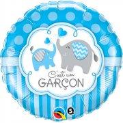 Ballon Gonflé à l'Hélium Eléphant Garçon