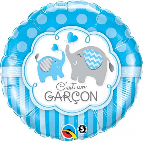 Ballon Gonflé à l Hélium Eléphant Garçon