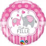 Ballon Gonflé à l'Hélium Eléphant Fille