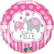 Ballon Hélium Eléphant Fille
