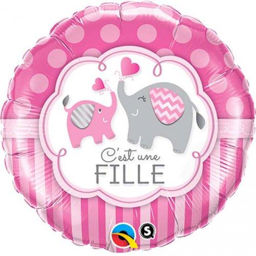 Ballon Gonflé à l Hélium Eléphant Fille