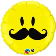 Ballon � Plat Smiley Moustache