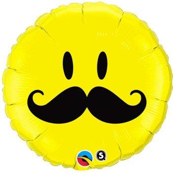 Ballon à Plat Smiley Moustache