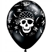 6 Ballons T�te de Mort Pirate